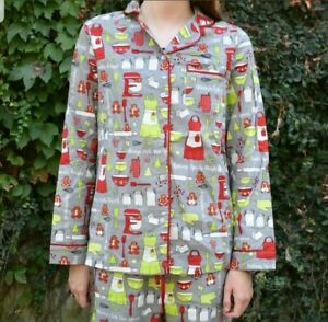 Details About Target Womens Flannel Pajamas Set Christmas Baking Cookies Gingerbread Size Xl