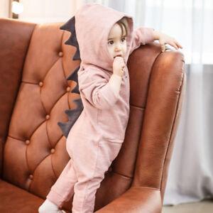 Recien-Nacido-Bebe-Nino-Nina-Dinosaurio-con-Capucha-Traje-una-Pieza-Body-Ropa