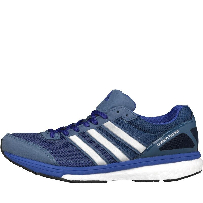 ADIDAS WOMENS ADIZERO BOSTON BOOST 5 RUNNING SHOES blueE WHITE– SIZE 5 1 2 - BNIB