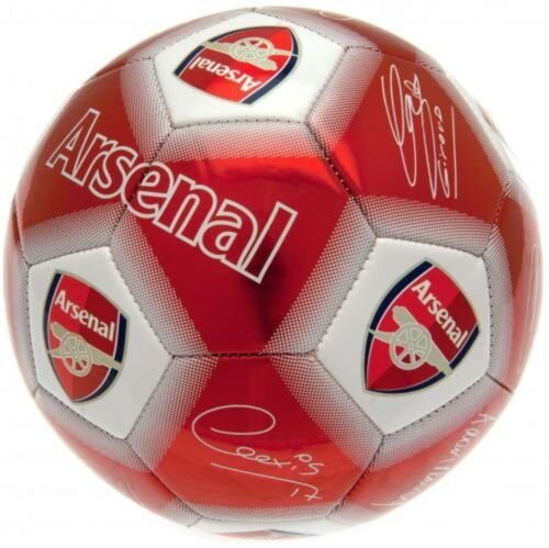 Football Club De Football Taille 5 Signature Arsenal Barcelone Chelsea Rouge Argent