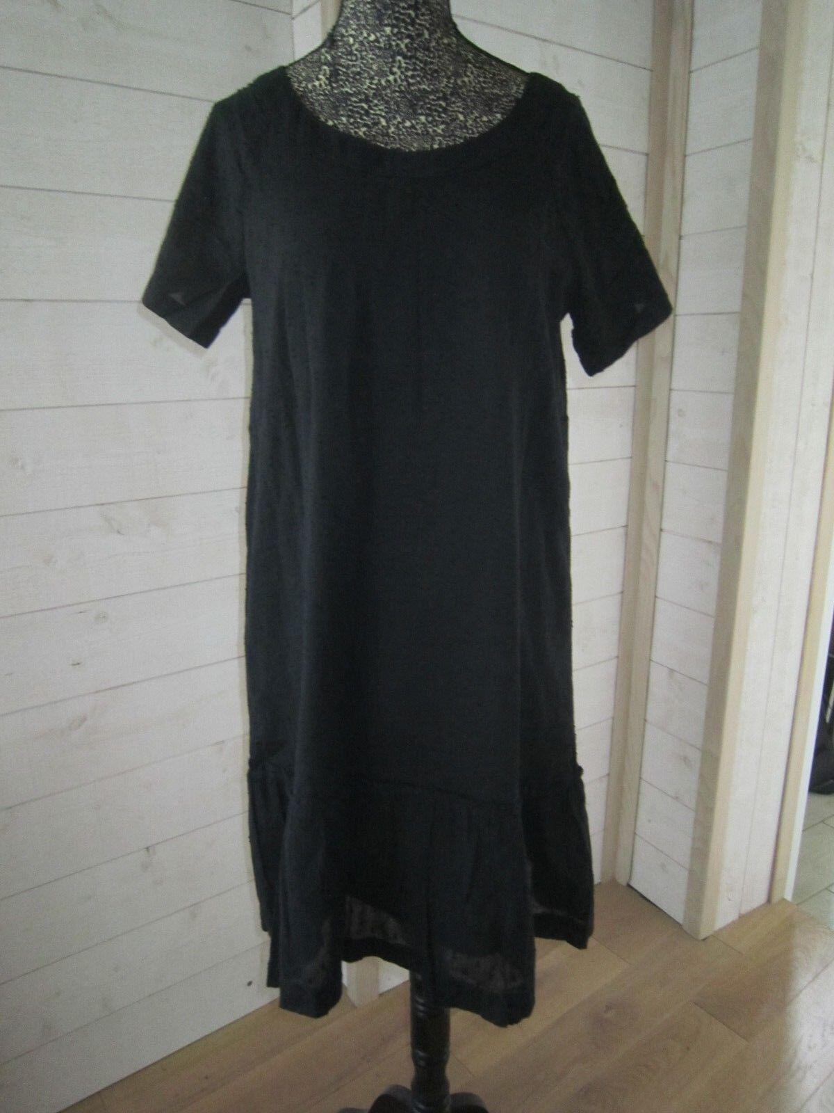 La Petie Robe schwarze by A.P.C en Voile de Coton Plumetis - S -36 38 TBE