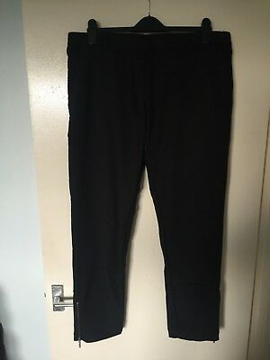 "Sweet-Tempered Bnwt Asos Trousers With Zip Hem W36"" Black Suitable For Men And Children Women"