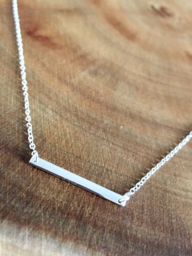 925 Sterling Silver Bar Necklace