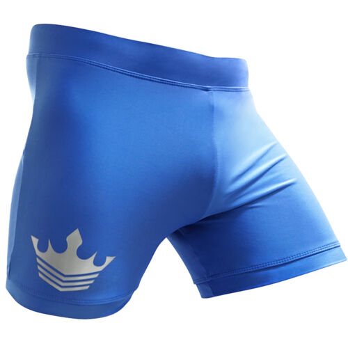 MEISTER VALE TUDO CROWN FIGHT SHORTS BLUE Compression MMA BJJ Muay Thai Boxing
