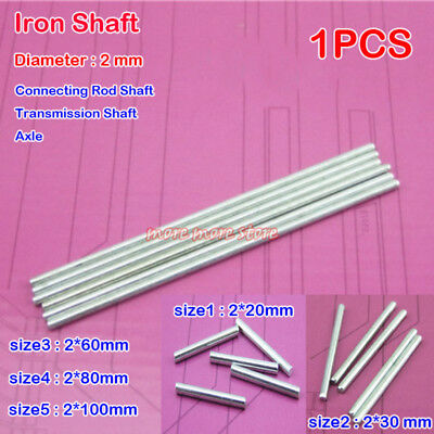 Long Steel Shaft 200mm Metal rods DIY Axle Small Production Model Material