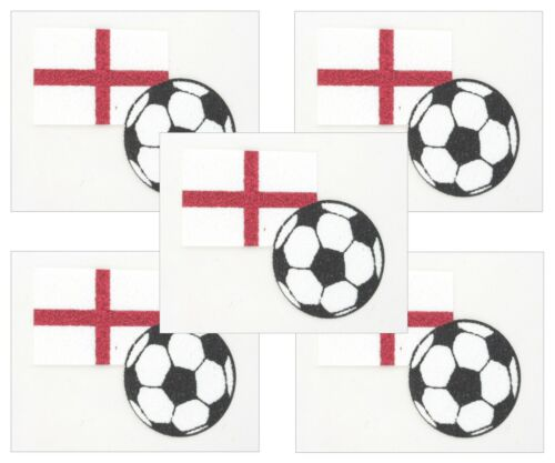Zest 5 Pack of England St George Body Art Tattoos