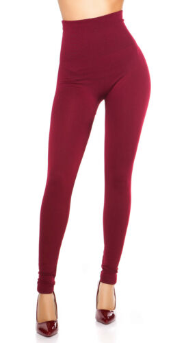 Thermo Jersey Leggings Leggins Shape Hidh Waist Stretch Hose eng warm S 32 34 36