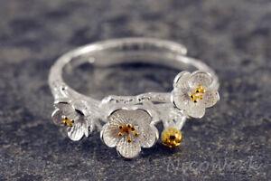 Silberring-Ring-Silber-925-Verstellbar-Offen-Damenringe-Damen-Schmuck-Sterling