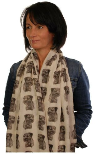 scarf with Border Terrier dog on womens fashion printed shawl wrap mike sibley