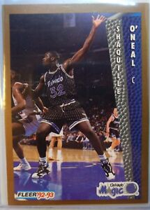 1992-93-Fleer-401-SHAQUILLE-O-039-NEAL-RC-SHAQ-HOF-Orlando-Magic-Rookie