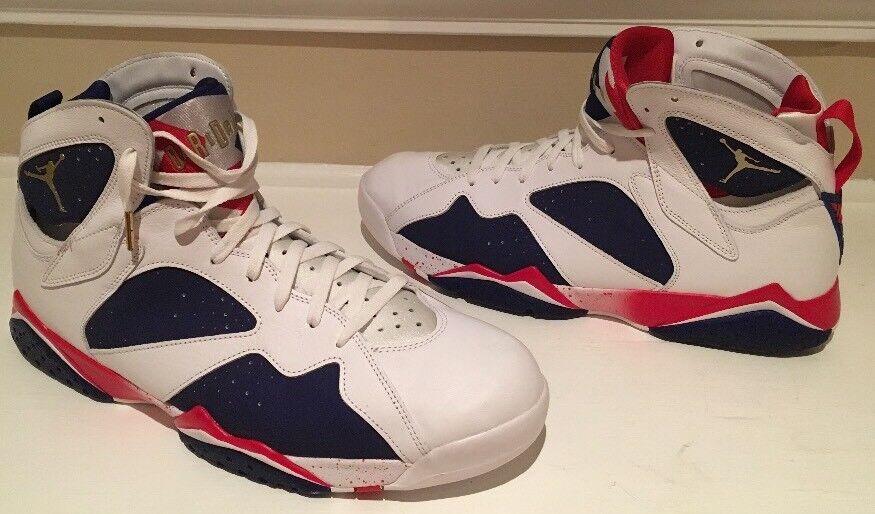 Nike Air Jordan 7 Retro Tinker Alternate Olympic Gold USA 304775-123 Size 16