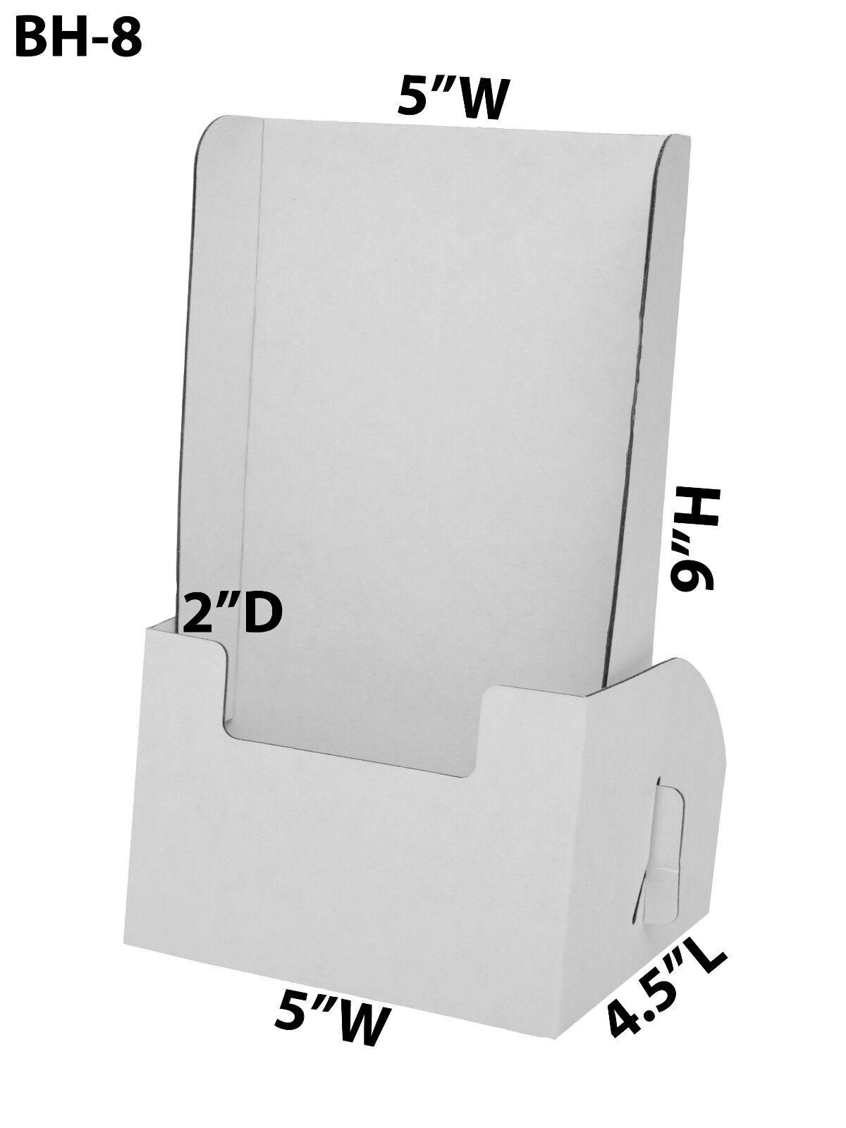 Lot of 50 Cardboard Brochure Holder 5  x 9  Leaflet Countertop Displays