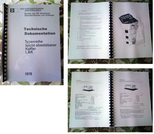 Doku für NVA Koffer LAK 1+2 IFA W50 Ural L60 W 50 L 60 | eBay