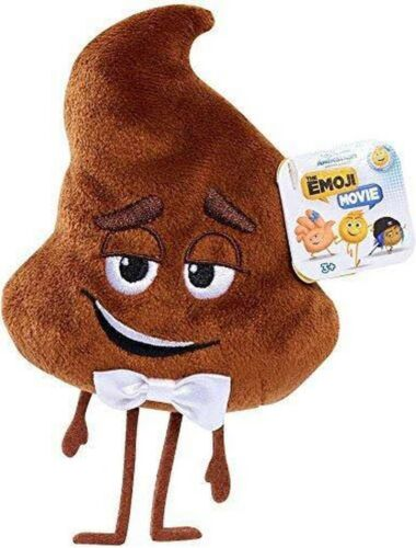 "NEW THE EMOJI MOVIE COLLECTIBLE PLUSH ""POOP"" EMOJI CHARACTER"