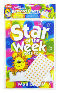 Kids-Reward-Chart-with-2-Certificates-amp-12-Sheets-Reward-Stickers-Fun-Learning