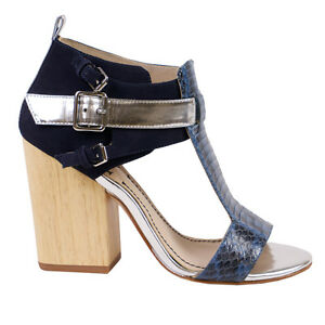 8b1b1955a Image is loading Elizabeth-and-James-Navy-Colorblock-Sandal-Size-8