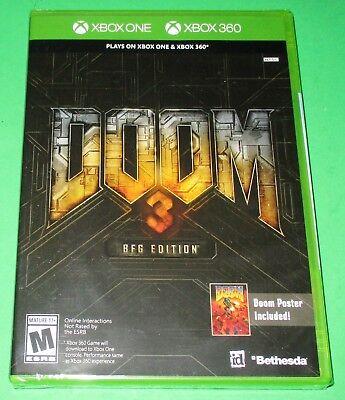 Doom 3 -- BFG Edition Microsoft Xbox One + 360! *New! *Free Poster! *Free  Ship! 93155118324   eBay