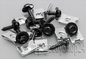 10-10-Torx-Schrauben-Blechmutter-Unterfahrschutz-Befestigung-Klammer-Set-fuer-BMW