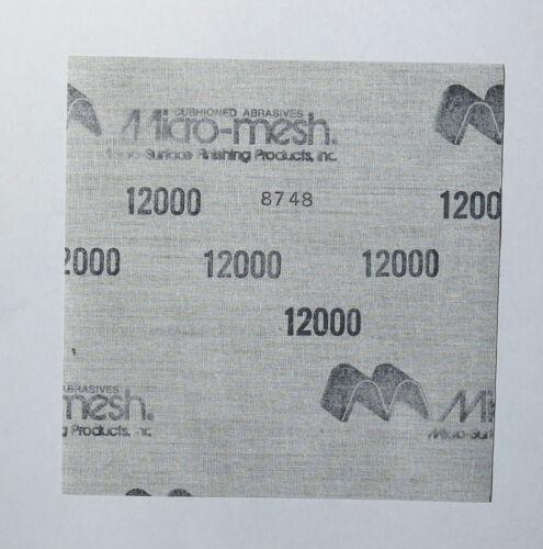 "Micro-Mesh  Finishing Sheet  2 sheets 6/'/' x 6/"" 12000 grit Extra Fine   SANDPAPER"