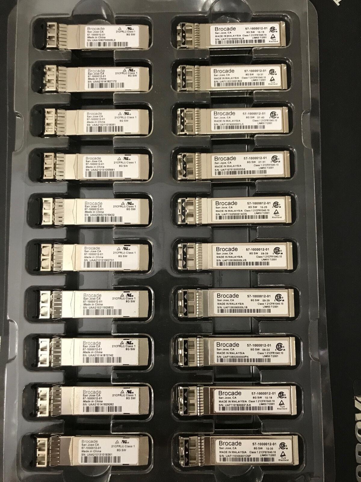 FC Transceiver XBR-000147 Lot of 2 Brocade 57-1000012-01 8Gb SWL 850nm SFP
