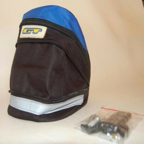 GT Cycling Bike Bicycle Seat Saddle Canvas Bag Black Red Blue Expandable