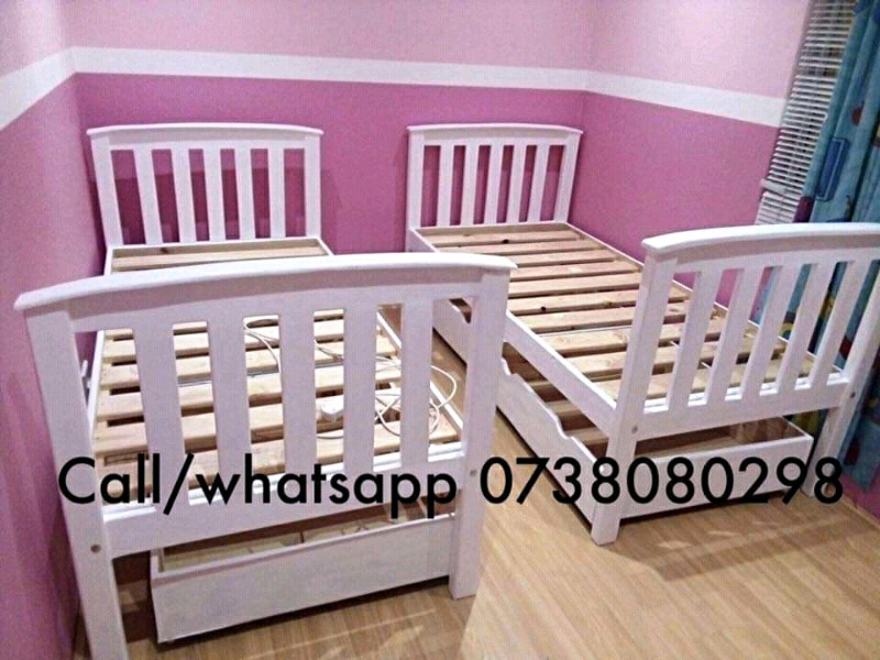 New sturdy pine beds in various designs and sizes made on order