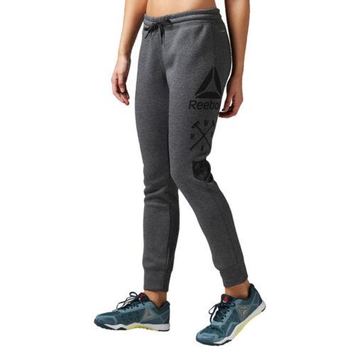 Reebok per donna in Pantaloni da Fitness Speedwick sportivi cotone allenamento Gym elasticizzato E6wqY0