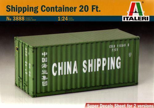 Plastic Kit 1:24 Model 3888 ITALERI Shipping Container 20 ft