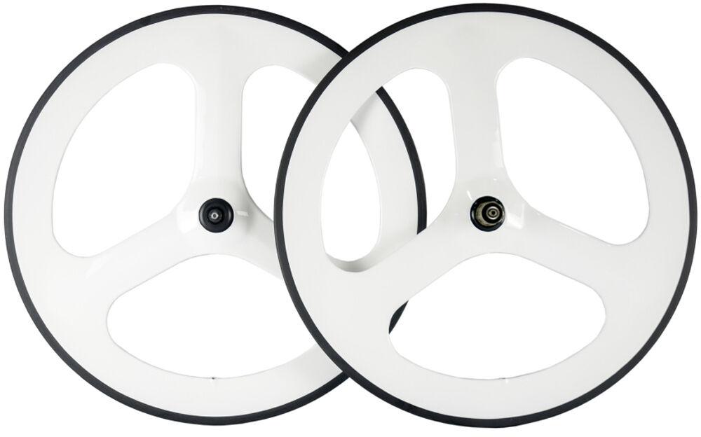 70mm Carbon Fiber Tri Spoke Wheelset Road Bike 3 Spokes Road Bike Carbon Wheels