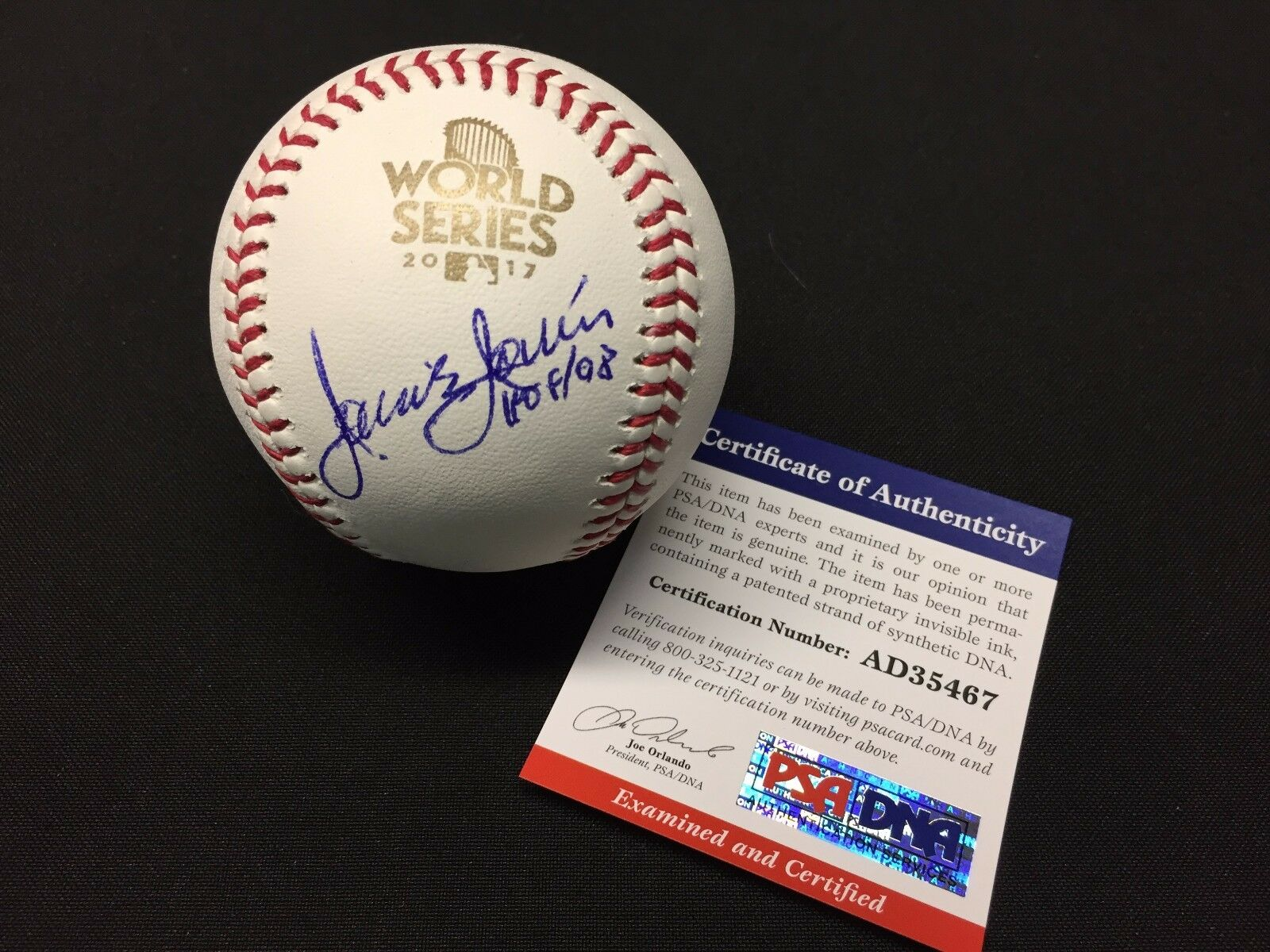 Jaime Jarrin Signed 2017 World Series Major League Baseball