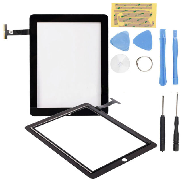 Replacement Screen Glass Digitizer Display for iPad 2 Black + Free Opening Tools