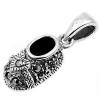 Pendant With Marcasite Sterling Silver 925 Vintage Style Jewelry Gift