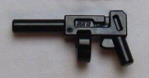 Lego Mini Fig Weapon Tommy Gun Pistol Automatic Long Barrel Round Magazine Lot 2
