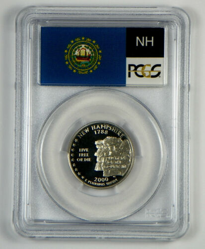 FREE SHIPPING 2000-S New Hampshire Clad  Proof State Quarter PCGS PR69DCAM
