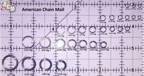 ORANGE Anodized Aluminum JUMP RINGS 250 7//32 16g SAW CUT Chainmail chain mail