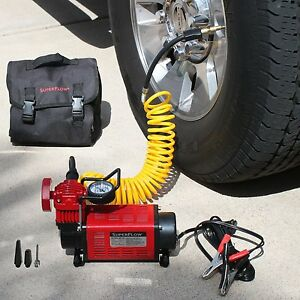 12v flat tire inflator air compressor high volume truck. Black Bedroom Furniture Sets. Home Design Ideas