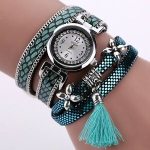 Belle Montre Femme Quartz Long Bracelet Ecaille Chic Top Fashion ... b239f2c8650