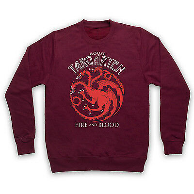 GOT HOUSE TARGARYEN SWEATER UNOFFICIAL GAME OF THRONES JUMPER ADULTS KIDS SIZES