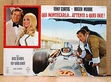 QUI MONTECARLO ATTENTI A QUEI DUE! fotobusta poster Tony Curtis Roger Moore AT23