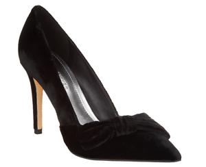 Marc Fisher Velvet Bow Pumps - Nighta Black Velvet Women's Size 8.5 New