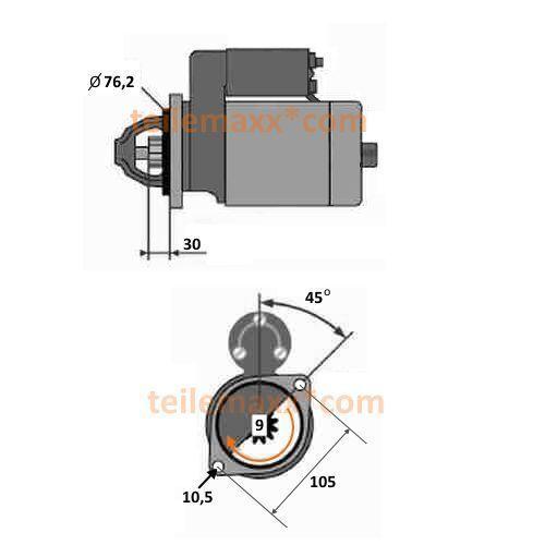 Anlasser für Ruggerini Hatz Lombardini 0001109028 0001218118 563R0610 115697 ...