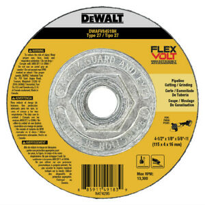 DEWALT T27 FLEXVOLT Combo Wheel DWAFV84518H new