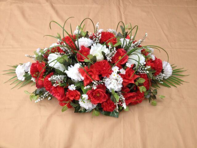 2 ft casket spray arrangement coffin grave funeral tribute 2ft casket spray arrangement coffin grave funeral tribute artificial flowers mightylinksfo