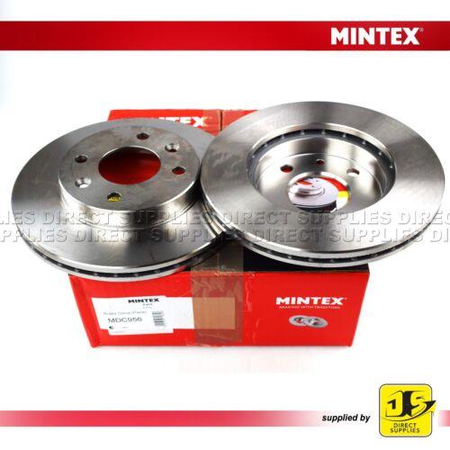2X Mintex Disques de frein avant MDC956 Renault 9 11 19 21 Clio Kangoo Megane