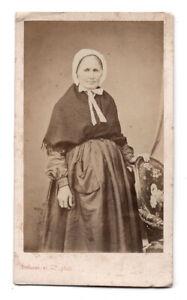 PHOTO-CDV-Femme-Carte-de-visite-1880-Defosse-et-Cie-Paris-Coiffe-Coiffure-Challe