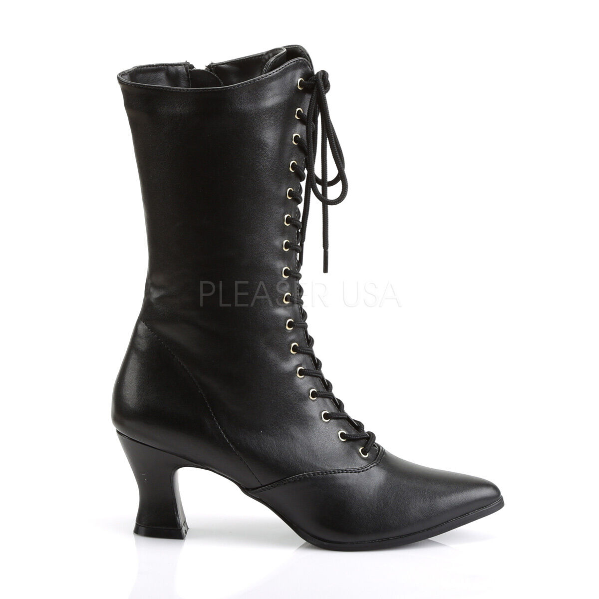 Gorgeous 2.75  Vegan Pointy Victorian Victorian Victorian Witch Pioneer Granny Black Goth Boots 6-12 7b29a2