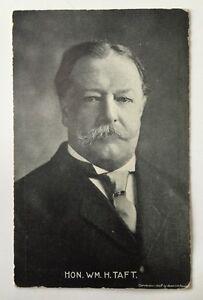 Vintage postcard president william howard taft 1909 postmark
