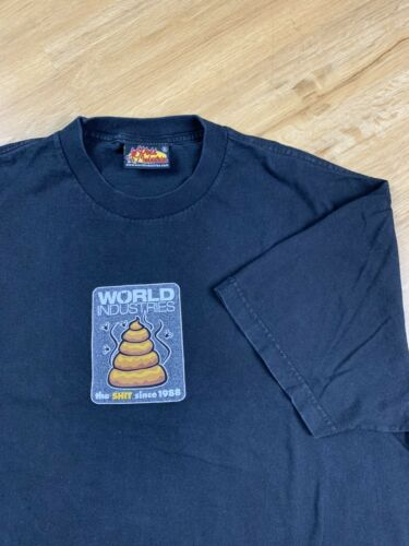 Vtg World Industries Skate Graphic Tee Shirt Size
