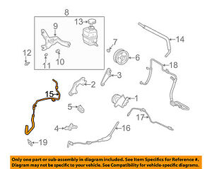 lexus toyota oem 99 03 rx300 power steering return hose 4440648010 Suzuki Samurai Engine Wiring Diagram image is loading lexus toyota oem 99 03 rx300 power steering