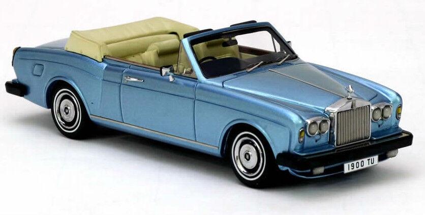 Maravilloso modelCoche Rolls Royce Corniche Dhc Rhd 1977-azulmetallic - 1 43